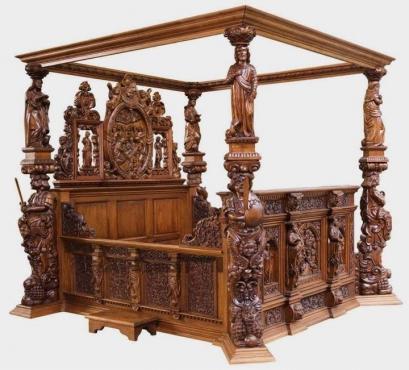 Antique ornate beds