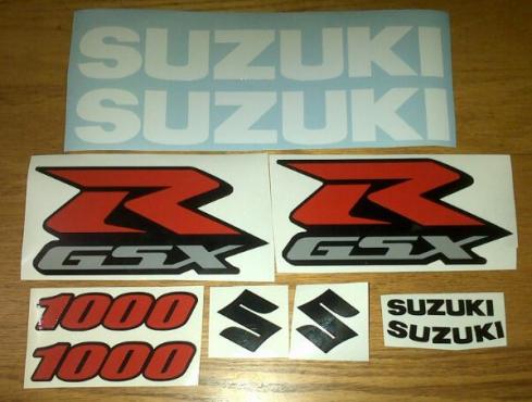 Suzuki K* GSXR graphics decals sticker fairing kits