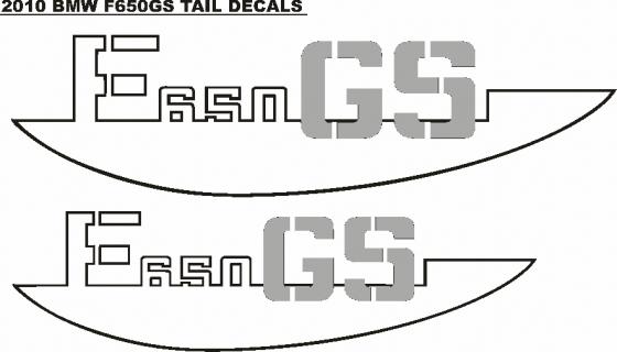 BMW Motorrad F650 GS dakar decals stickers graphics kit - 01 designs