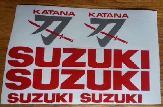 Suzuki Katana decals graphics sticker kits