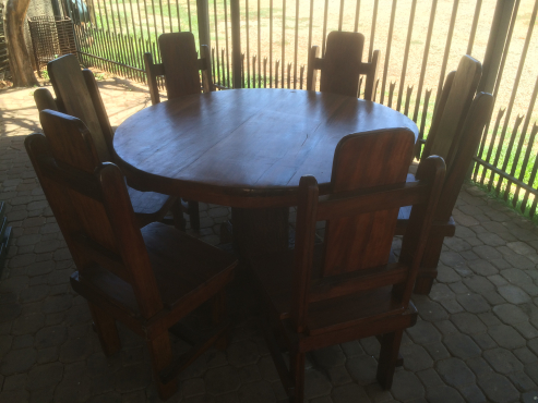 6 Seater Sleeper Wood Dining Room Table And Chairs Centurion Diningroom Furniture