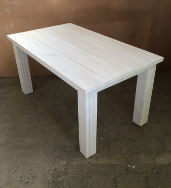 Patio table Chunky Cottage series 1500 White washed