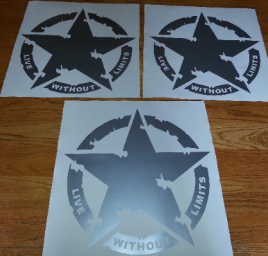 Jeep Live Without Limits star decals stickers graphics