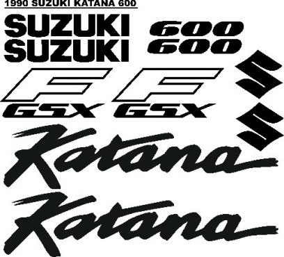 Suzuki Katana decals graphics sticker kits