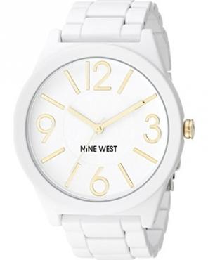 Brand New Nine West Women's NW/1678WTWT Matte White Rubberized Bracelet Watch