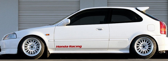 Pair off Honda Racing side skirt decals stickers graphics