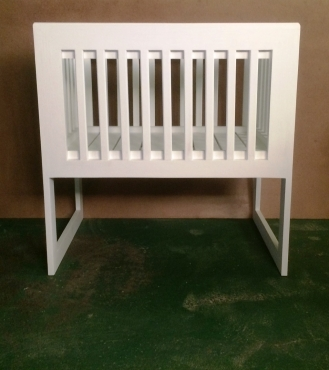 Nursery Baby Cot Interim Farmhouse series 1000 White washed