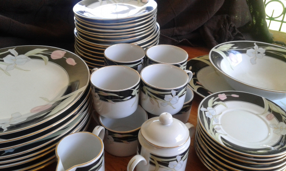 Dinnerware Vintage Fine china Fairfield Vanessa Yung Shen 44 piece