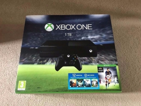 Xbox One 1TB Console with Fifa 16 and One Controller.