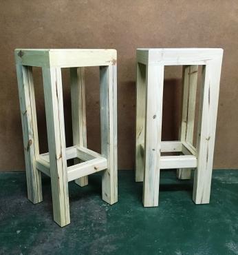 Bar stool Chunky Farmhouse series 350 Raw