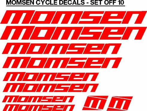 Momsen bicycle frame decals stickers graphics