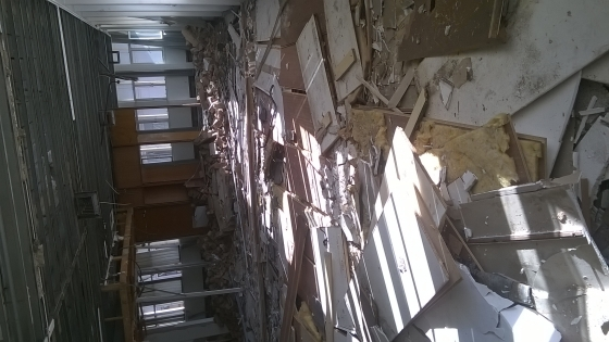 Demolition services and rubble removing