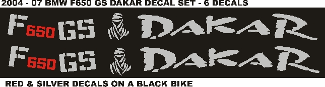 2010 BMW F650 GS decals stickers graphics kits