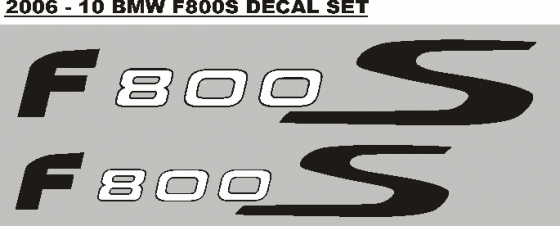 Pair of BMW F800S tail decals