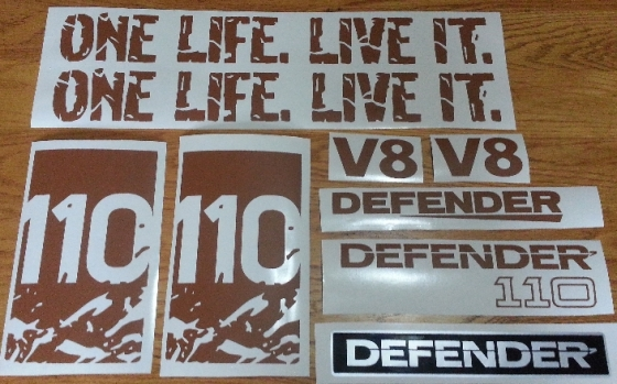 Land rover 110 V8 decals stickers graphics kit