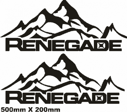 Jeep renegade side rear mountain decals stickers graphics