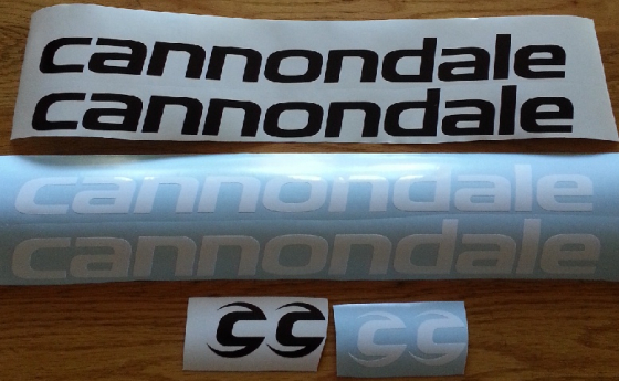 Cannondale bicycle frame and rim decals stickers graphics kits