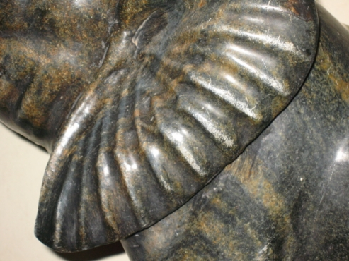 Stunning serpentine stone elephant