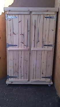 Kitchen Cupboard Farmhouse series Free standing 1800 with 2 doors Raw Mobile