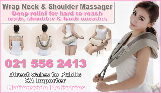 Neck and shoulder massager for deep penetrating heated relief