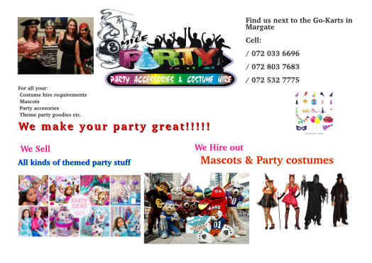 Party Shop in Margate KZN | Junk Mail