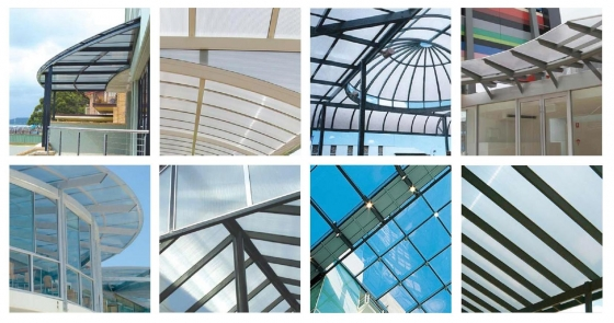 POLYCARBONATE AND STEEL ROOF SHEETING