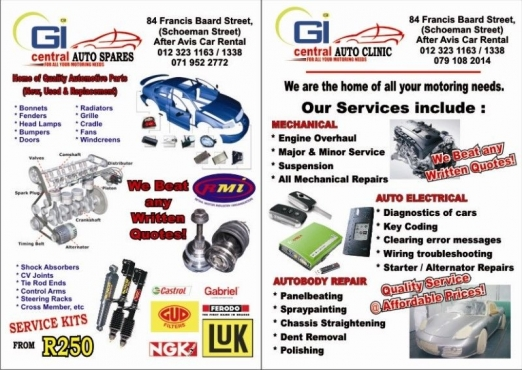 body parts for audi, ford, renault,kia, bmw, merc available.  we keep all cars spares.