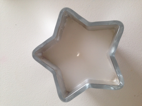 Star Candle Holder with White Star Candle