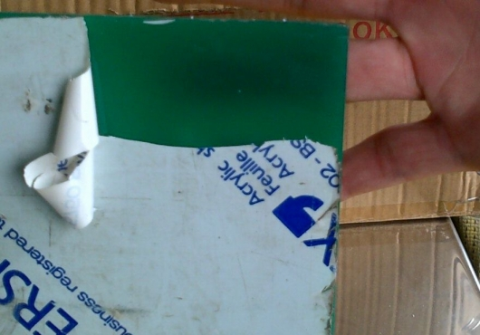 7 peices of 3mm thick bottle green perspex