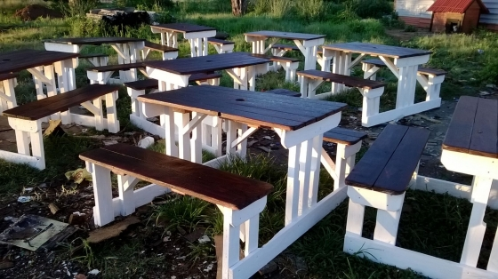 Picnics , Garden and Patio wooden tables