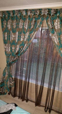 Curtains: 2.40 metres long with a extra 10cm hem