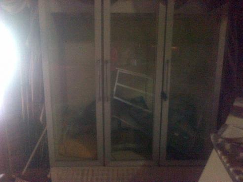 3 door industrial fridge