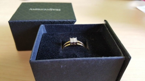 American Swiss fire diamond ring for sale