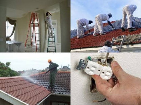 House/Roof painting,Roof Cleaning,Minor Electrical