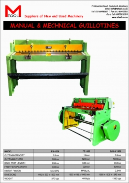 Guillotine , Treadle ( manual ) or mechanical
