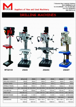 Pedestal drilling machines