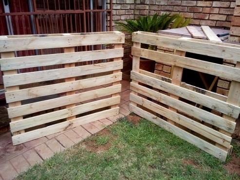 Grade A wooden pallets.