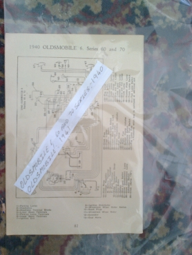 oldsmobile all 1940 / 41: electrical wiring diagram