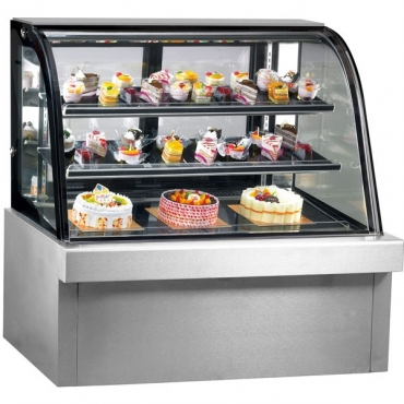 Curved Stainless  Steel cake fridge brand from R18950