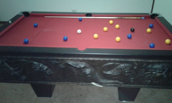 Big United Pool Table With Slate Top And Loads More Junk Mail - Big 5 pool table