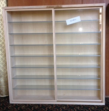 Glass Display Cabinet With Sliding Doors Dust Free