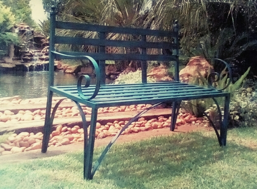 Garden Bench WROUGHT IRON