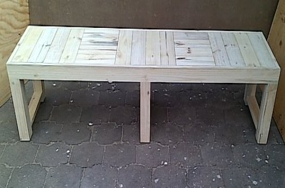 Patio bench Farmhouse series 1980 Extra width Raw