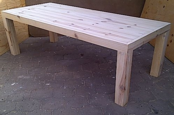 Patio table Chunky Farmhouse series 2200 Raw