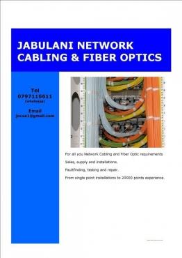 Pretoria Network Cabling / Data Network Cabling / Computer Cabling / Fiber Optics
