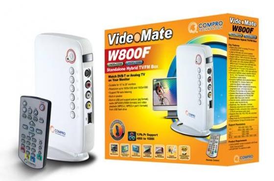 Brand New Compro VideoMate W800F Hybrid TV FM Box