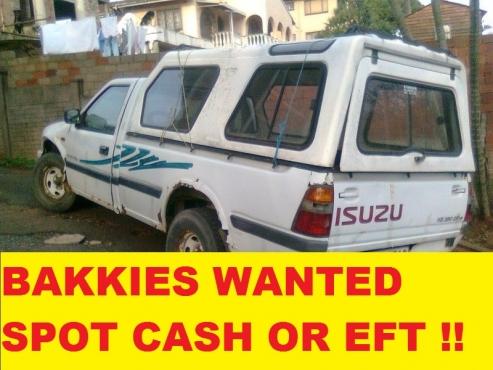 Bakkies and more bakkies wanted
