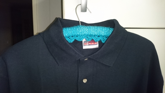 Navy Golf shirts