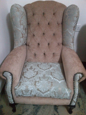 Diamond Button Wingback Chairs