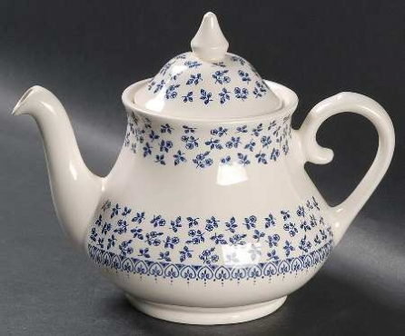 Teapot & Lid in Provence Blue by English Ironstone